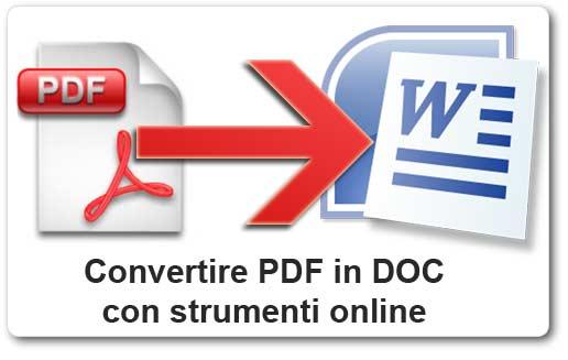 Convertire pdf word come in